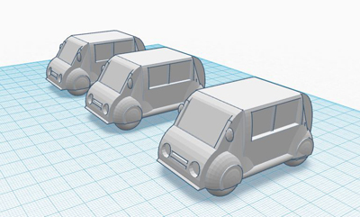 3 Coches para proyecto parking 400